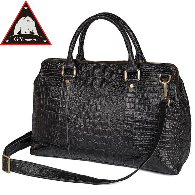 ANAPH ANAPH Women s Carry On Luggage Elegant Alligator Patent Leather  Laptop Travel Duffle Bag Overnight Weekender 37240e962b