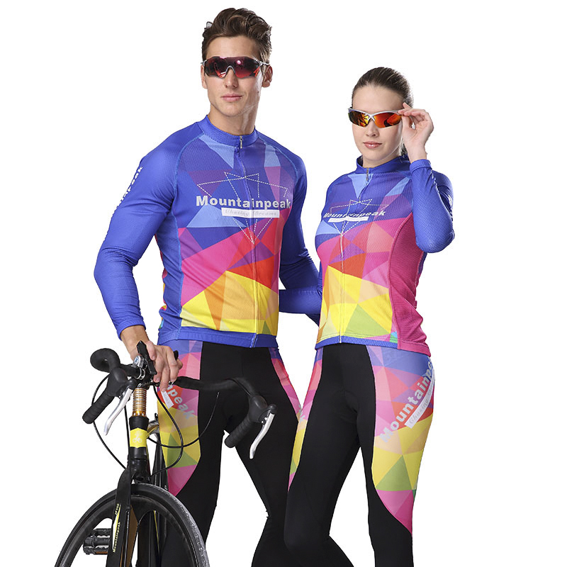 Mountainpeak Spring Summer Autumn Soft Breathable Icy Cycling Jersey Set Long Sleeve MTB Road Bike Cycling Outdoor Sportswear women s cycling shorts cycling mountain bike cycling equipment female spring autumn breathable wicking silicone skirt
