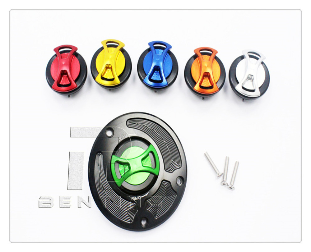 CNC Keyless Gas Fuel Tank Cap Cover For Kawasaki 650R Ninja / ER6n / Versys 2009-2013 Z750 2007- 2013 cnc keyless gas fuel tank cap cover for kawasaki concours ninja zx10r zx6r z1000