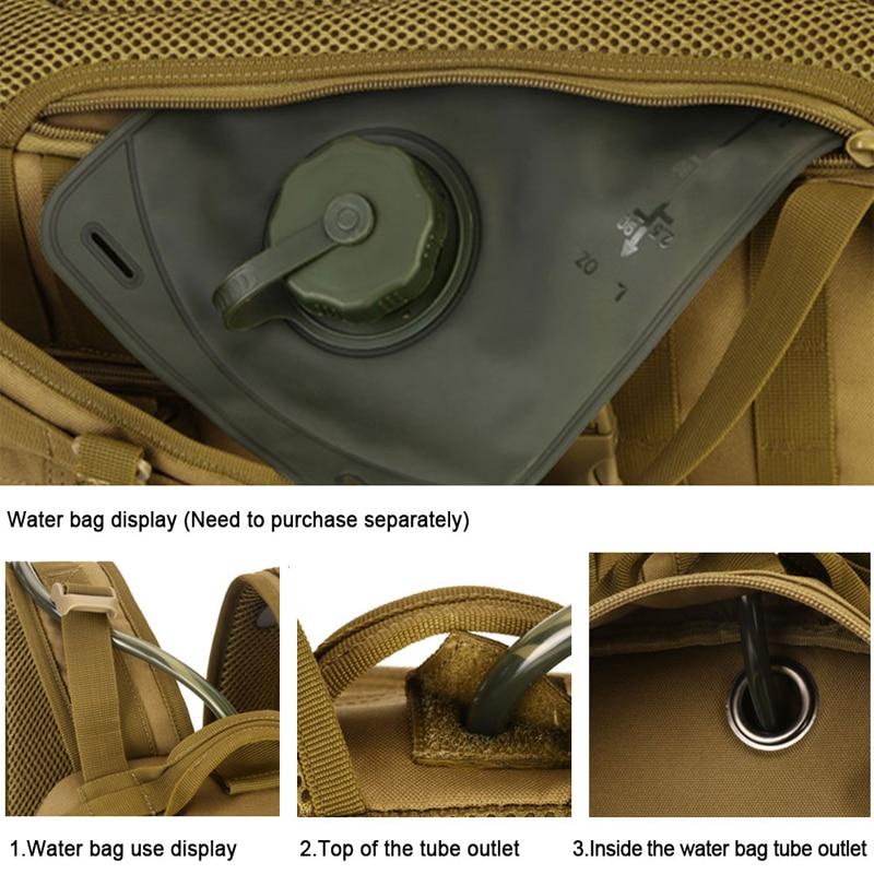 Hot Men Outdoor 3P тактикалық рюкзактар 900D - Спорттық сөмкелер - фото 4