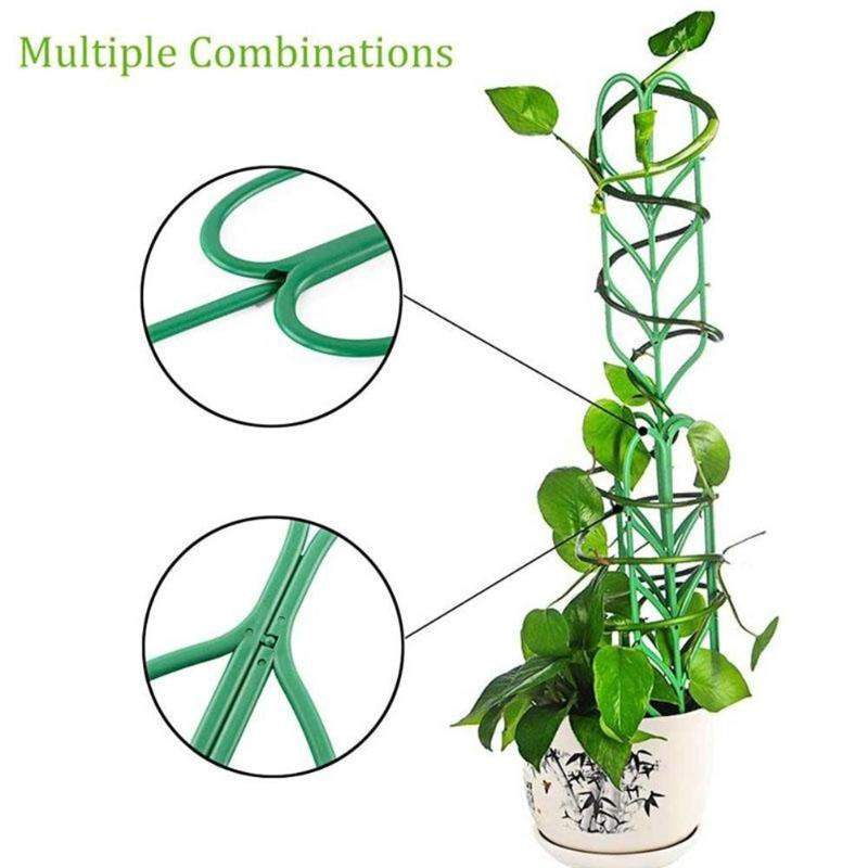 Leaf Shape Garden Trellis for Climbing Plants Potted Plant Support Rack