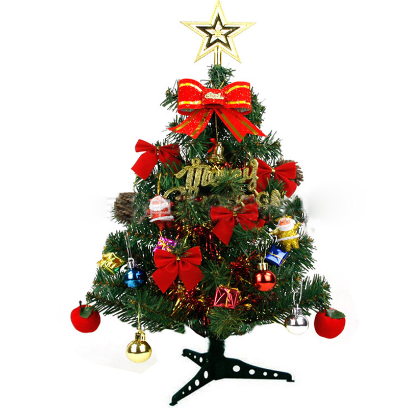 1set 60cm plastic christmas tree santa claus decorations christmas gift ornament home decor celebrate supplies artificial tree - Plastic Christmas Tree