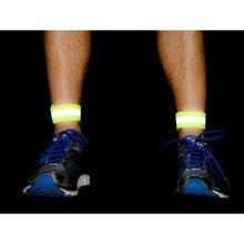 Спорт на открытом воздухе велосипедный ночь бег велосипед Детская безопасность отражательная полоса на руку ремень светоотражающий материал