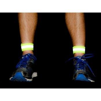Deportes al aire libre, bicicleta, correr de noche seguridad en bicicleta banda reflectante brazo cinturón Material reflectante Correa