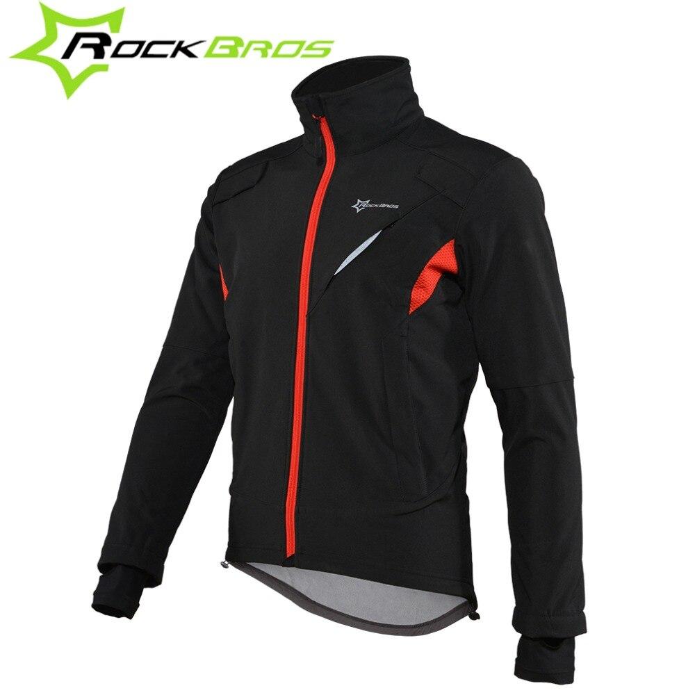 ROCKBROS велосипедная куртка зимняя спортивная Флисовая теплая ветрозащитная велосипедная майка водостойкая велосипедная Светоотражающая ку...