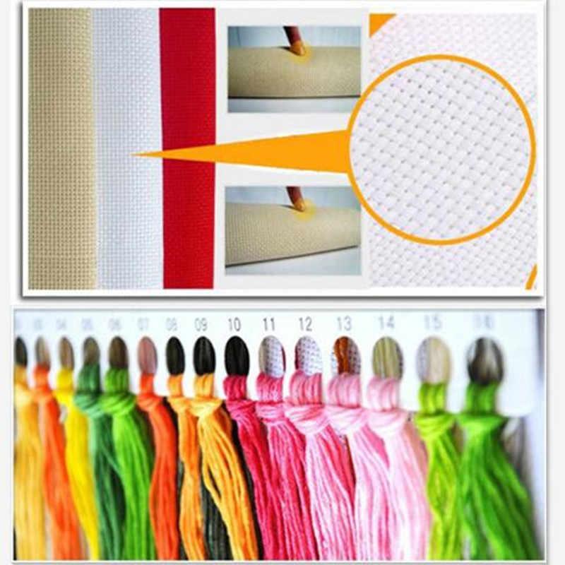 Vier Seizoenen In Water Dorp Schilderijen Op Canvas Dmc Geteld Borduurpakketten Voor Borduren 11CT Home Decor Handwerken Sets
