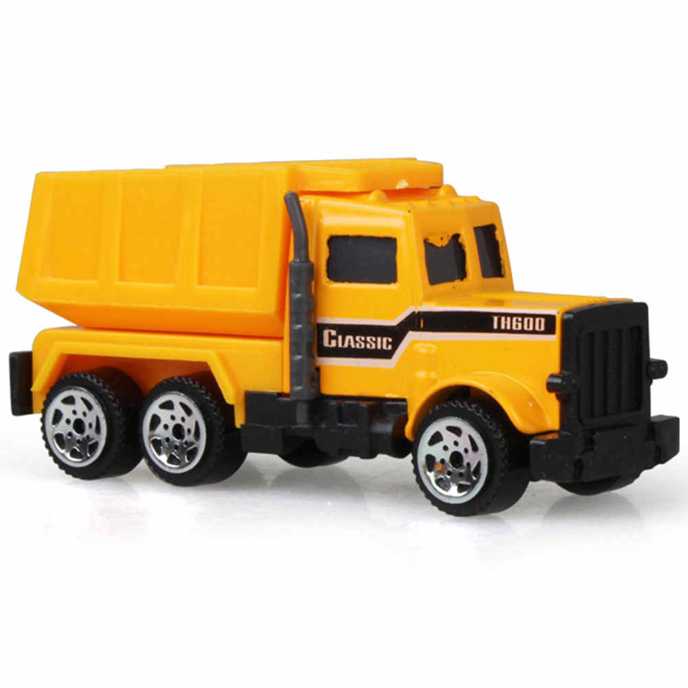 1:64 Medium Size Imitation Inertia Multi-type Forklifts Mixer trucks Engineering Vehicles Kids Excavator Model Car 38.5*10*4cm