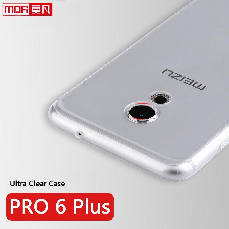 """pouzdro pro Meizu Pro6 Plus měkké křemíkové čiré zadní tpu ochranný telefon coque transparentní ultra tenký 5,7 """"meizu pro6 plus pouzdro"""