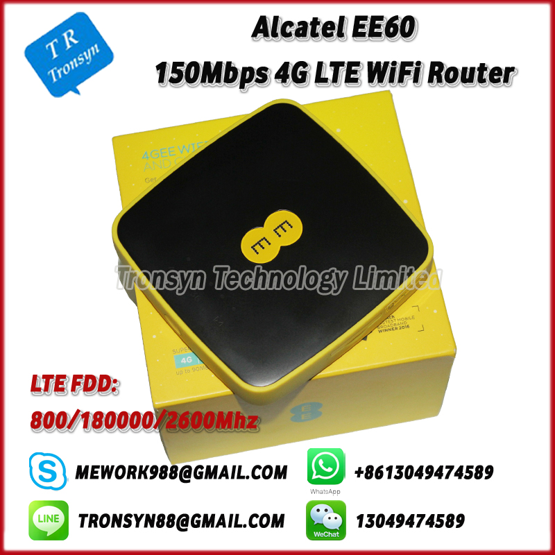 150Mbps 4G Pocket WiFi Router Support LTE FDD B3 B7 B20 With 5150mAh Battery For Alcatel EE60