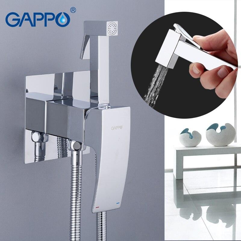 Robinets de Bidet GAPPO robinet de pulvérisation de toilette en laiton robinet chromé robinet de bidet salle de bains bidet douche de bain de pulvérisation d'eau de toilette
