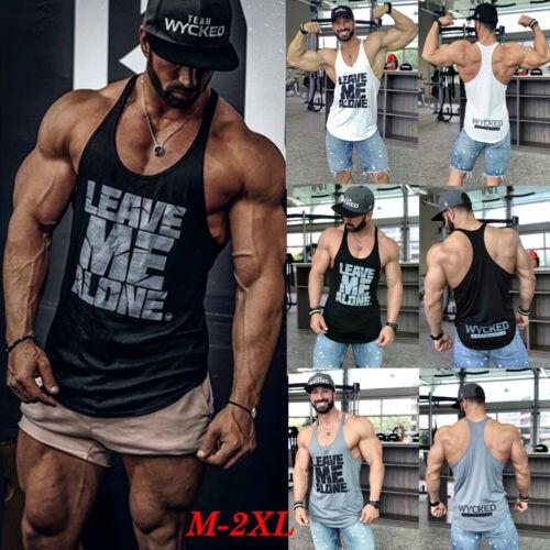 2019 Brand New Style M-2XL Fitness Men's Muscle Sleeveless   Tank     Top   Tee Shirt Bodybuilding Sport Vest