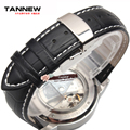18mm 19mm 20mm 21mm 22mm relógio dos homens com uma pulseira de couro preto implantação borboleta fecho frete grátis
