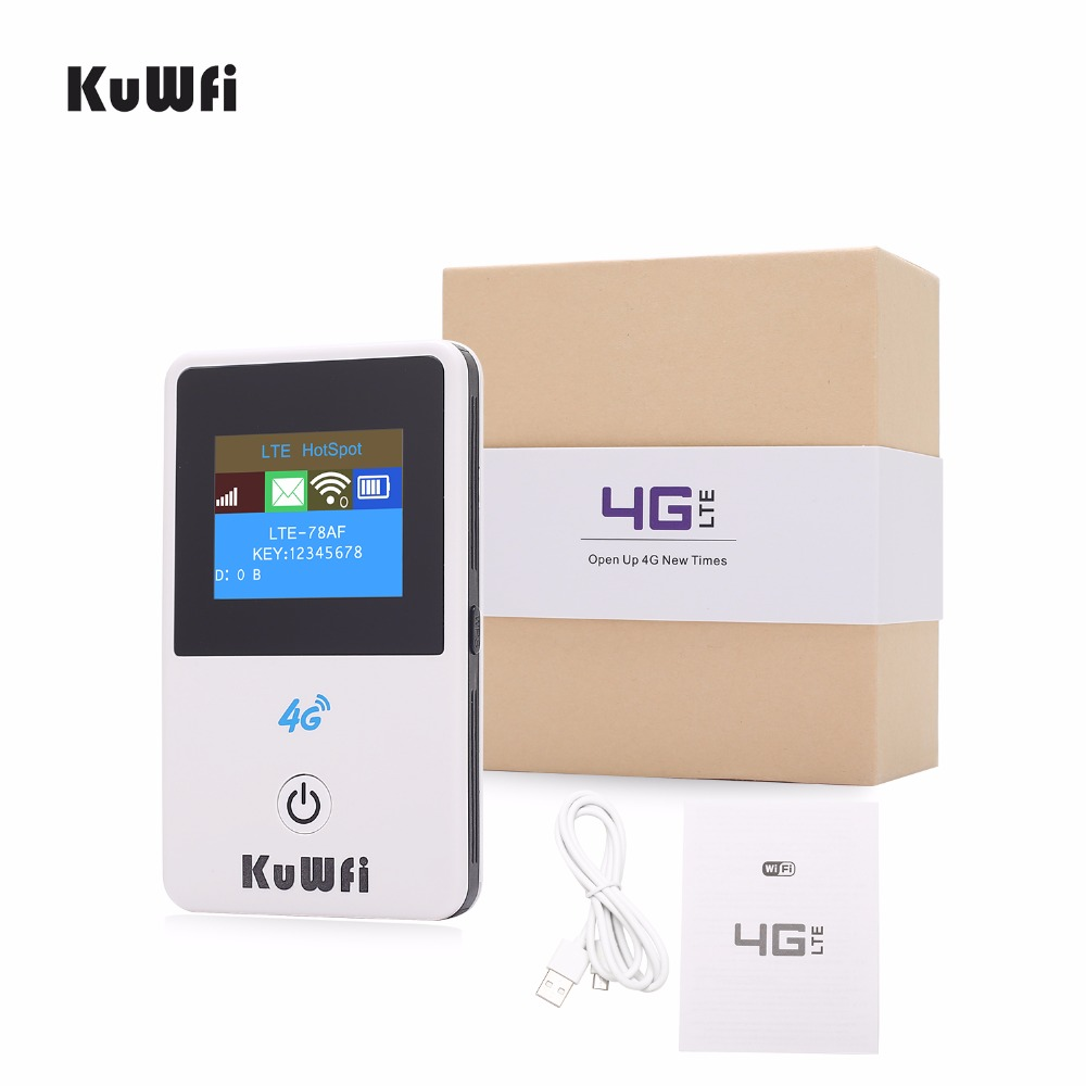 Image 2 - KuWFi 4G Mini Wifi Router 3G/4G LTE Wireless Router Portable Pocket Mobile Hotspot Car Wifi Router Support B39/B40/B41-in 3G/4G Routers from Computer & Office