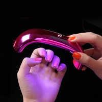 9 W lámpara LED UV secador de uñas portátil Micro USB para el pulido de Gel de curado máquina de uñas de secado rápido 3 ledes herramientas para manicura de uñas