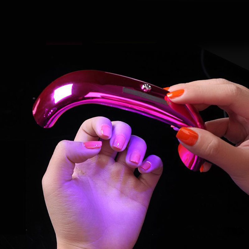 9W UV LED Lamp Nail Dryer Portable Micro USB for Curing Gel Polish Quick Dry Nail Machine 3 LEDs Nail Art Manicure Tools