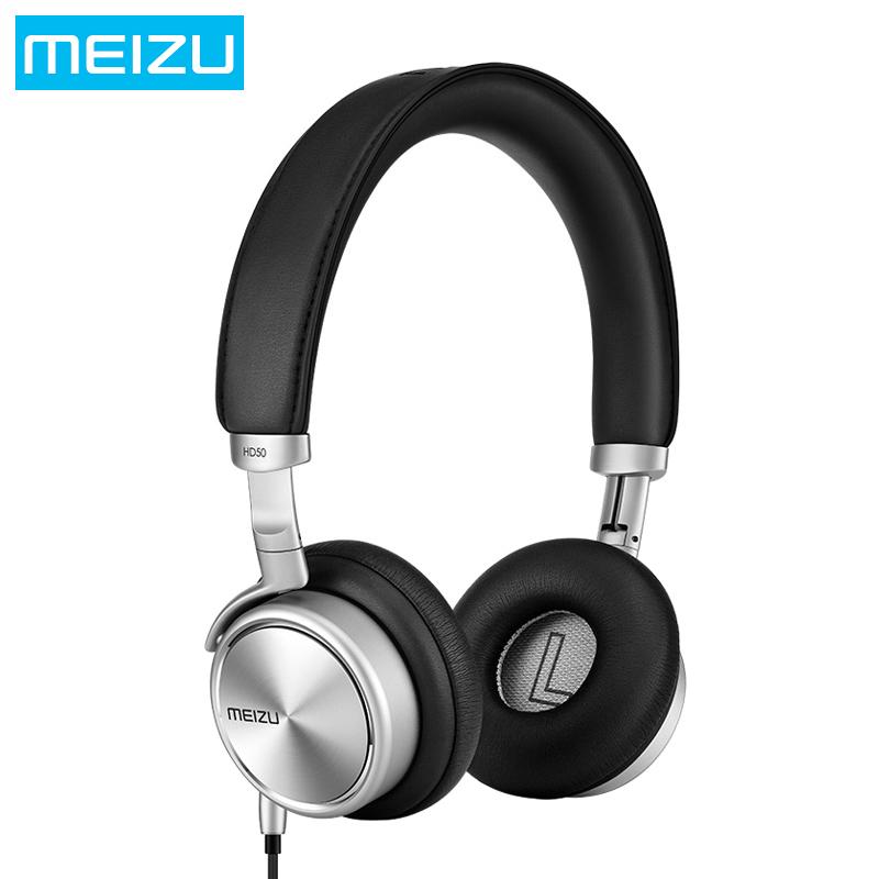 Prix pour Meizu hd50 hifi stéréo bass music casque en alliage d'aluminium shell faible distorsion casque avec micro pour iphone samsung lg