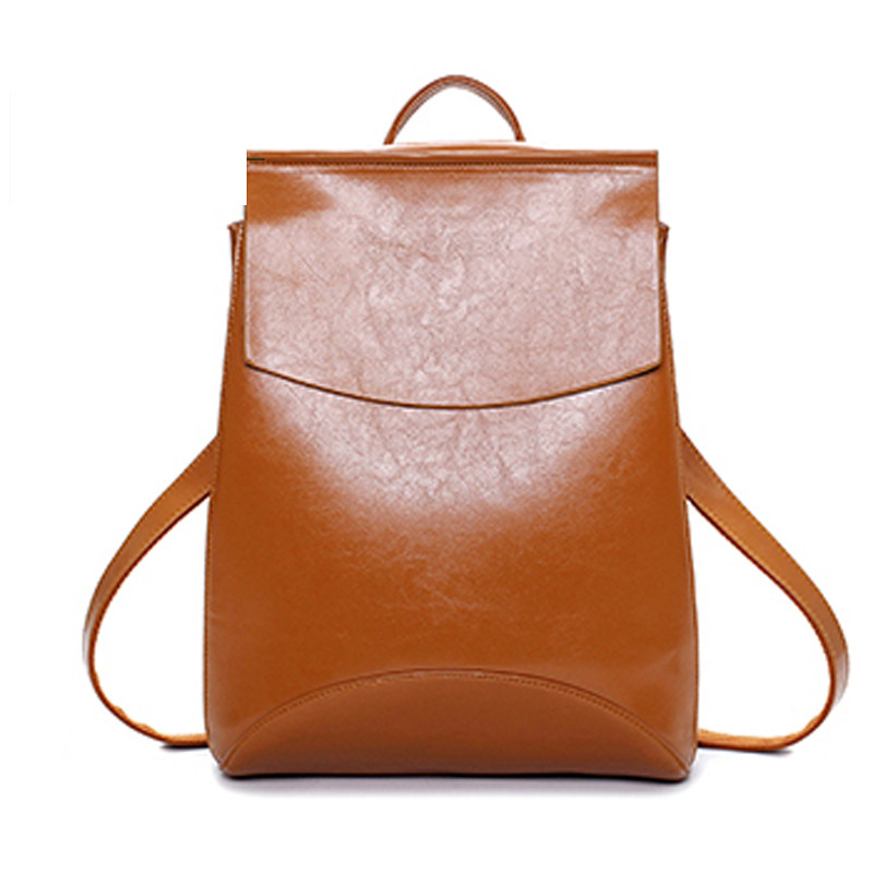 Famous Brand Backpack Women Backpacks Solid Vintage School Bags For Girls Black Leather Backpack Mochilas Mujer 2016 Back Pack