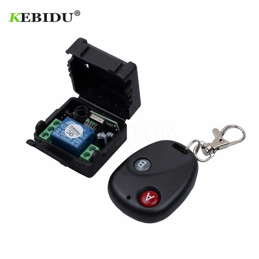 KEBIDU Wireless Remote Control Switch DC 12V 10A 433MHz RF Telecomando Transmitter with Receiver for Anti-theft Alarm System
