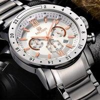 MEGIR Men Chronograph Watches Luxury Brand Men's Waterproof Stainless Steel Clock Date Quartz Watches Sport Watch Large Watch