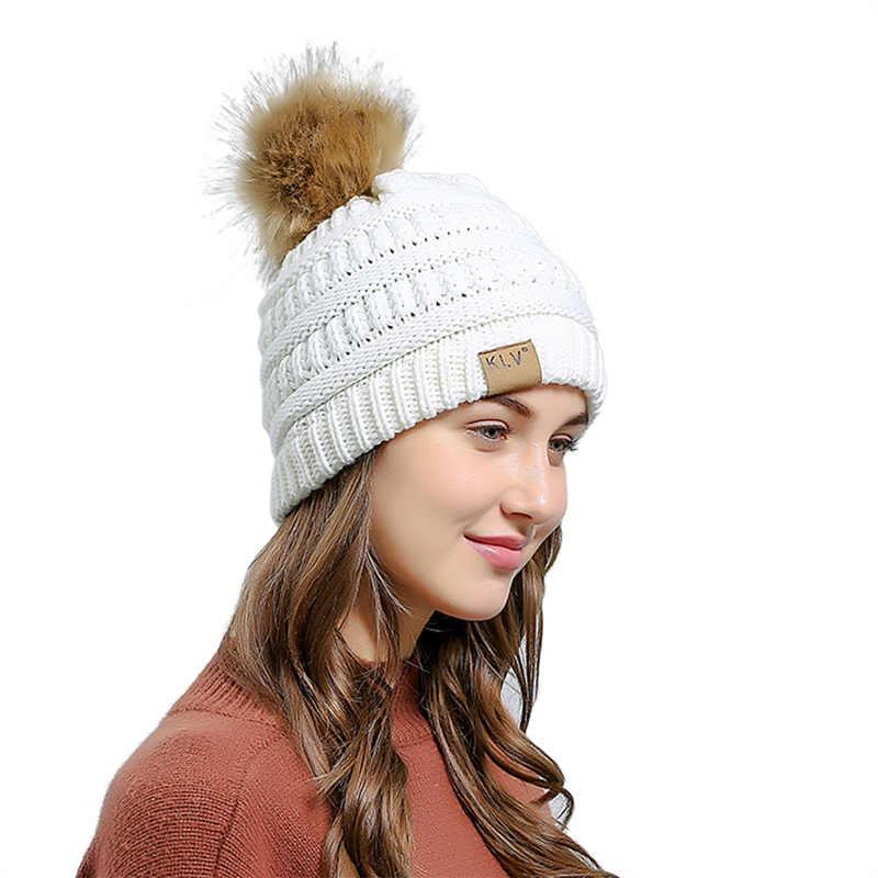 Mink และ Fox fur Ball หมวกเครื่องบินทิ้งระเบิดหมวกสำหรับหญิงสาวถัก Beanies หมวกยี่ห้อใหม่หนาฤดูหนาวฤดูใบไม้ร่วง Warm หญิงหมวก F2