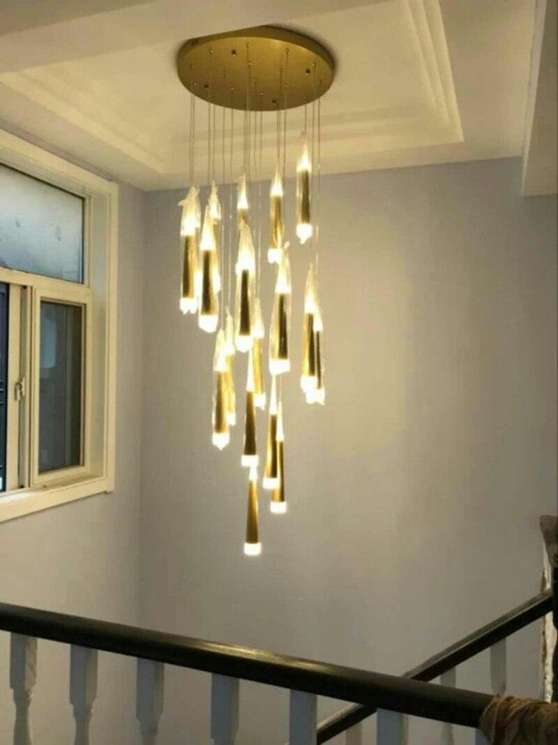 Us 50 15 Off Modern Pendant Lights For Stairwells Suspended Luminaires Stairwell Lighting Fixtures Hanging Lamps Indoor Lamp Diy In