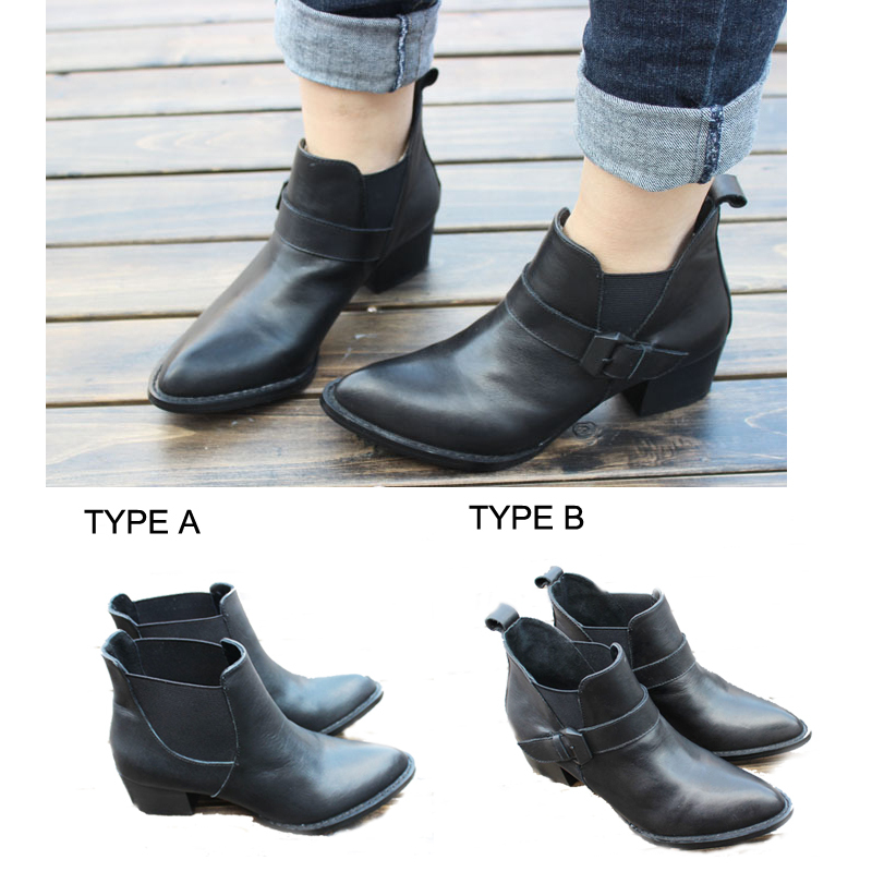 Aliexpress.com : Buy Classic Brand Black Genuine Leather Ankle ...