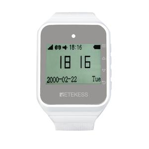 Image 2 - RETEKESS Wireless Waiter Calling System Customer Service Restaurant 2pcs TD108 Watch Receiver + 15 Call Button Wireless Pagers