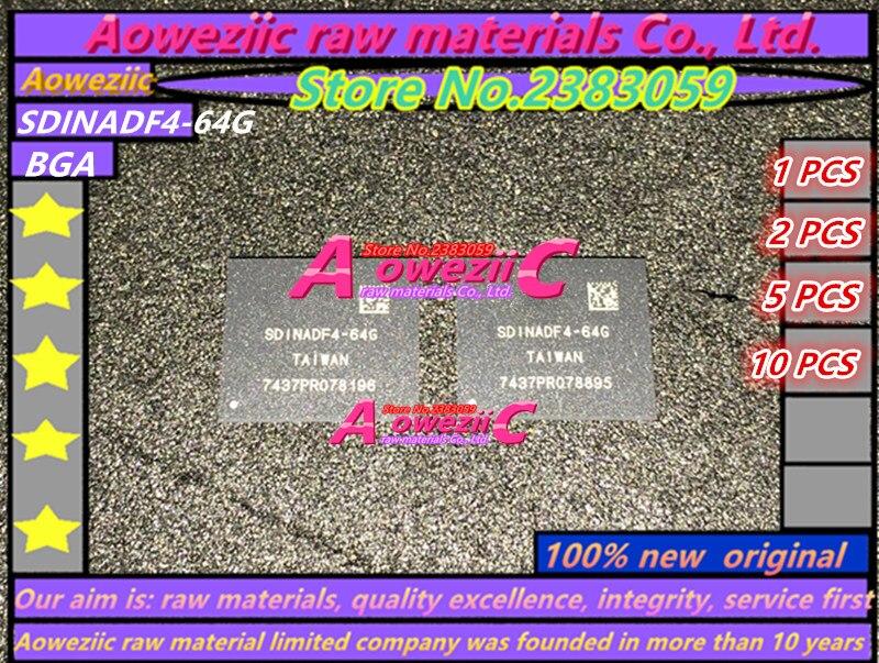 Aoweziic 2017 100 new original SDINADF4 64G BGA EMMC Memory chip SDINADF4 64G