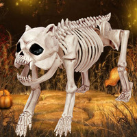 Hot New Skeleton Dog 100% Plastic Animal Skeleton Bones for Horror Halloween