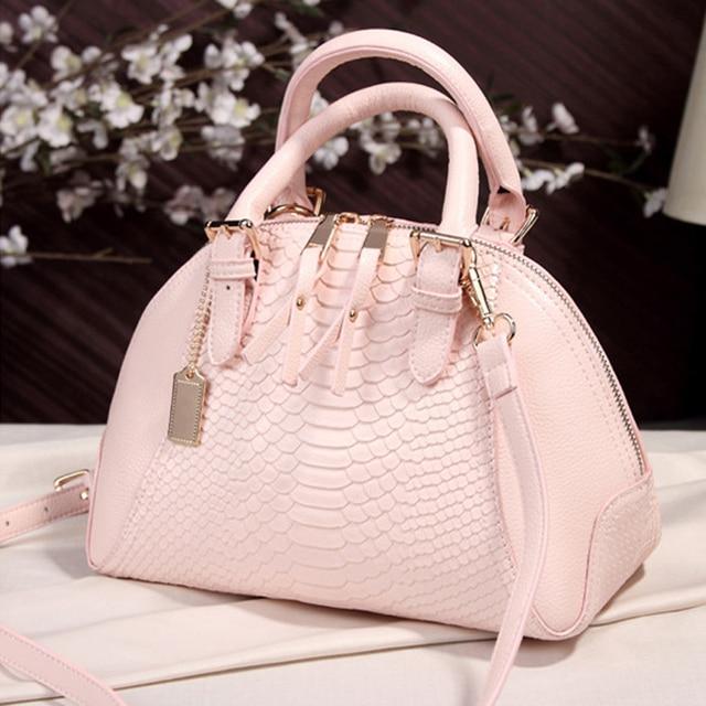 2016 Fashion Women Handbag Women Messenger Bag Ladies Crocodile Pattern Leather bag High Quality Shell Bag Crossbody Bags