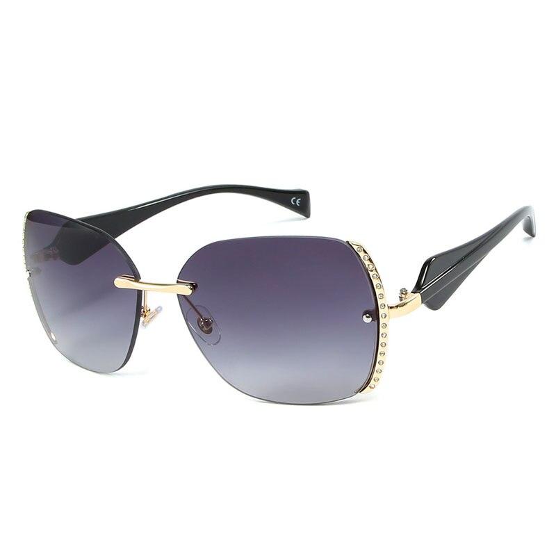 2019 New Rimless Goggle Diamond Side Gradient Sunglasses Women Retro Sun Glasses Vintage Eyeglasses in Women 39 s Sunglasses from Apparel Accessories