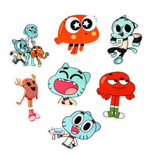 Pvc Stickers 14Pcs/set Funny Anime Gumball