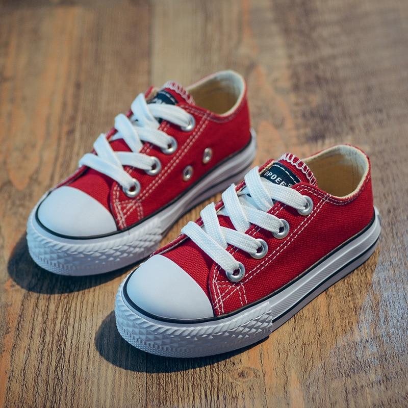2018 nieuwe klassieke kinderen schoenen meisjes jongens canvas - Kinderschoenen - Foto 4