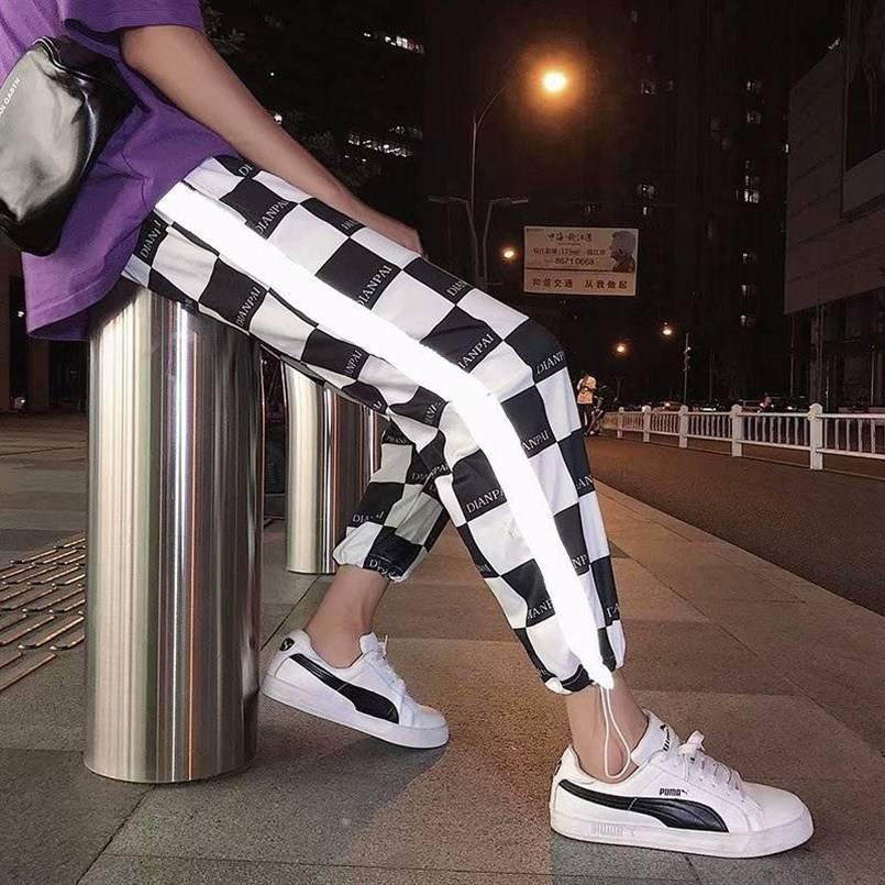 Thin Reflective Streetwear Pants Men Jogger Ankle-Length Harem Pants Men Clothes 2019 Summer Joggers Trousers Men Pants Casual