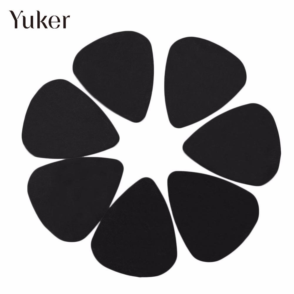 Yuker 100Pcs 0.5mm Acoustic Guitar Picks Plectrums Musical Guitarra Bass Instrument Part Accessories Black