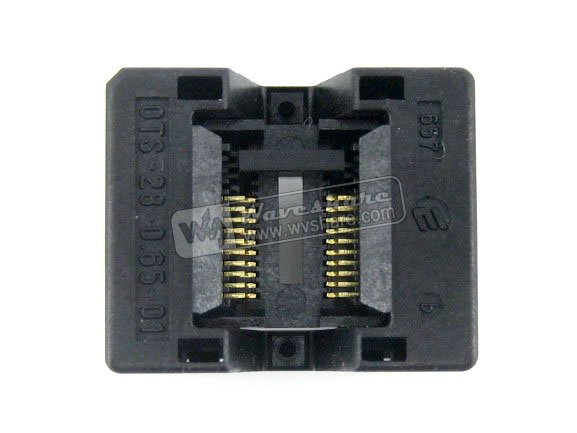 Modules SSOP20 TSSOP20 OTS-20(28)-0.65-01 Enplas IC Test Burn-in Socket Programming Adapter 0.65mm Pitch 4.4mm Width import ots 28 0 65 01 burning seat tssop28 test programming