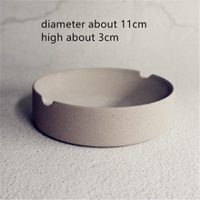 Round Simple Cement Silicone Mold for Ashtray Making Concrete Craft Pot Mould
