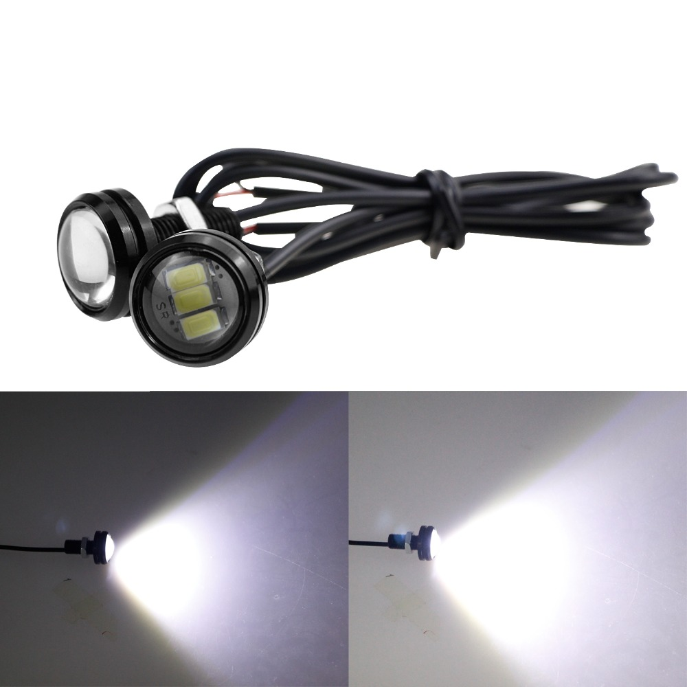 2pcs DRL LED Daytime Running Lights Eagle Eye Lamps Backup Reversing 5630 SMD Waterproof Universal Motorcycle CE in Car Light Assembly from Automobiles Motorcycles