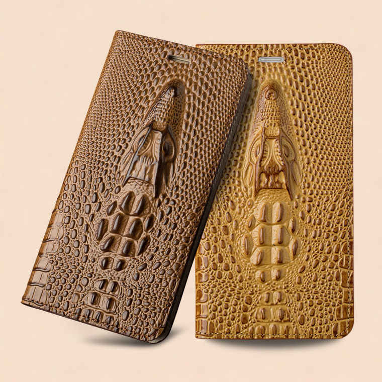 Buy For ZTE Nubia Z11 Mini S Magnetic Case 3D Crocodile Flip Luxury Real Genuine Leather natural skin Cover Phone Case