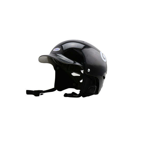Water sports helmet for aquatic surfing boat with brim head and ear protector sports equipment