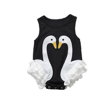 Summer Baby Kids Girls Flamingo Feathers Swan Romper Jumpsuit Playsuit Outfits Newborn Girl Summer Rompers Sunsuits