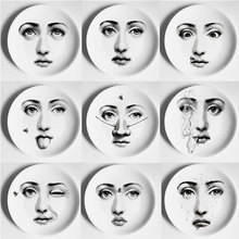 Europe Wall Decorative Fornasetti Plates Ceramic Hanging Dishes Home Table Living Room Accessories Decorations Housewarming Gift