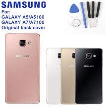 Original Samsung Back Battery Cover Glass Housing For SAMSUNG 2016 Edition Galaxy A7 A710 A7100 A7109 A710F A5 A510 A5100 A510F защитная плёнка для samsung galaxy a5 2016 sm a510f front