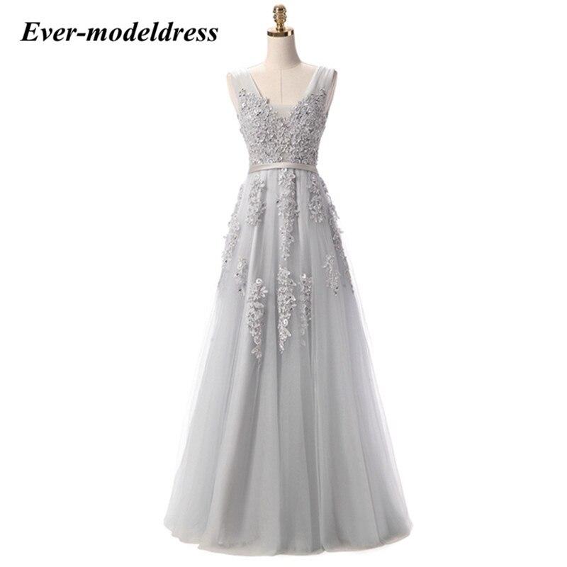 V-Neck A-Line Backless Lace   Bridesmaid     Dresses   Sleeveless Long   Dress   Custom Made   dress   elegant estido de festa longo