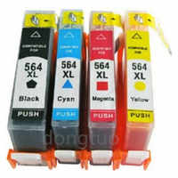 4 Pk 564 XL 564XL Ink Cartridges Replacement For  564   564XL Photosmart B110 C309A C309G b109 B209 C310 C410 Inkjet Printer