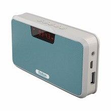 E300 Portátil Banco de Potencia Del Altavoz Altavoz Estéreo Inalámbrico Receptor Bluetooth Llamadas Manos Libres MP3 Reproductor de Música Radio FM