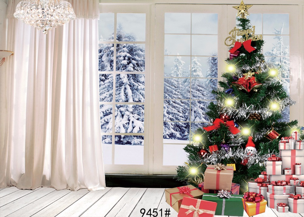 270X180cm Window backdrops christmas backdrop 9x6FT photography backgrounds for photo studio christmas backdrop 9451 150x220cm thin vinly photography backdrop wallpaper wooden floor drop custom photo prop backdrop backgrounds l736
