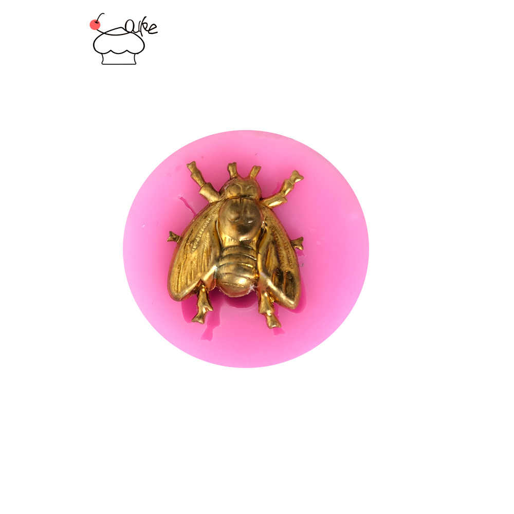 Aouke Small Bee Fondant Cupcake Decorating Molds Cake Silicone Mold Sugarpaste Candy Chocolate Gumpaste Clay Mould H037