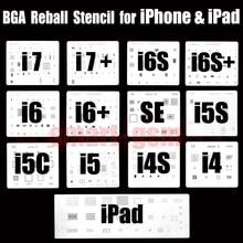 Ruiao 13pcs/lot high quality full set BGA Reballing Stencil dedicate kit for iPhone 4 4s 5 5s 5c 6 6+ 6S 6s+ 7 and 7plus