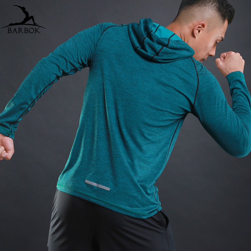 BARBOK Running-Jackets Sportswear Hoodie Couple Fitness Jogging Reflective Men For 3-Color